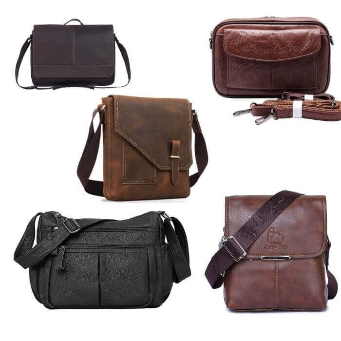 LEATHER CARRY BAG & HANDBAGS